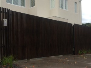 Timber Batten Automatic Sliding Gate Cheltenham
