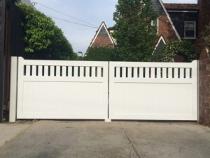 Solid timber automatic gates