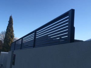 Angled Steel Louvres