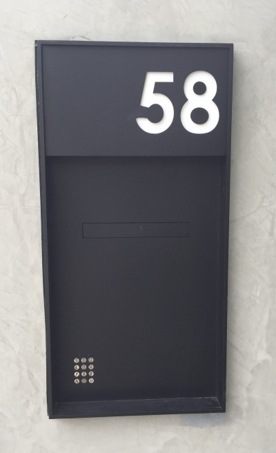 Custom Designed Mailboxes with Built in Keypad